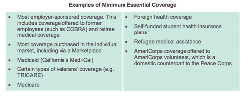 Minimum essential coverage and play or pay tax for Minimum essential coverage plan design
